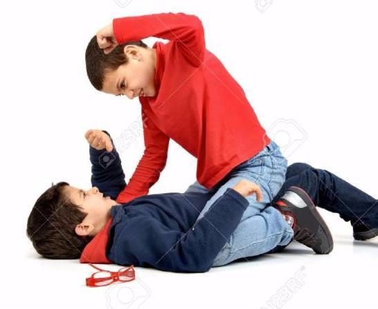 Boys fighting