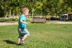 boy running away