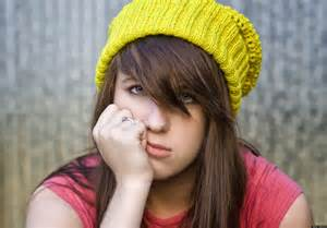 stressed teenager