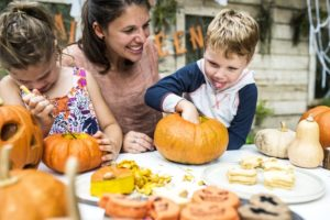family pumpkin carving